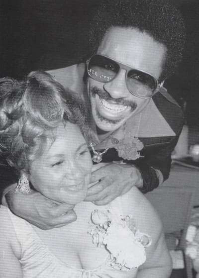 Stevie Wonder and his mother