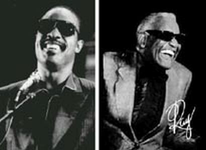 Ray Charles y Stevie Wonder